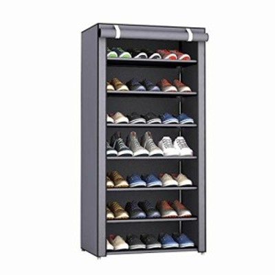 Rerii シューズラック カバー付き 下駄箱 組み立て式 靴収納 ラック シューズボックス スリ 靴収納ボックス 大容量 靴箱 薄型 靴入れ 玄