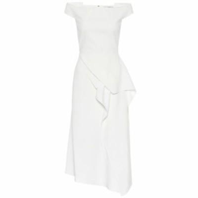 ローラン ムレ Roland Mouret レディース ワンピース ワンピース・ドレス Arch off-the-shoulder midi dress White