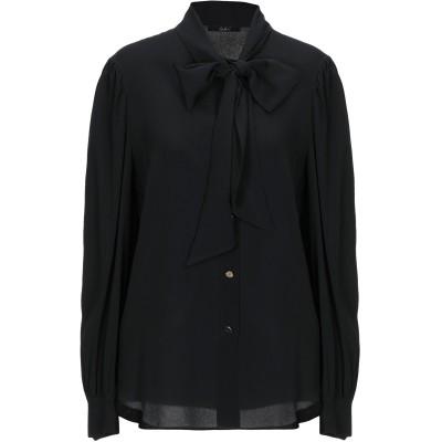 カルラ ジー CARLA G. シャツ ブラック 44 アセテート 68% / シルク 32% シャツ