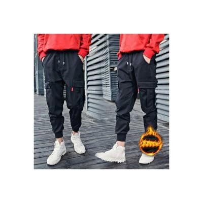 ボトムス メンズ ロングパンツ 裏ボアあり 裏ボアなし ズボン  暖かい ランニングパンツ 裾ゴム 運動 スポーツ 無地 ブラック 秋冬  カジュア