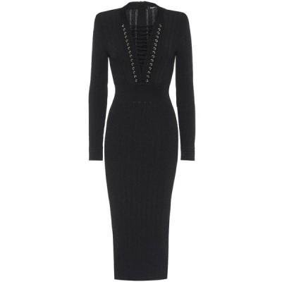 バルマン Balmain レディース ワンピース ワンピース・ドレス Knit dress Noir