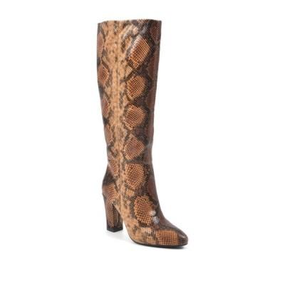 ホワイトマウンテン レディース ブーツ&レインブーツ シューズ Cosmic Snake Embossed Block Heel Tall Boot SUNSET/EXOTIC/TEXTIL
