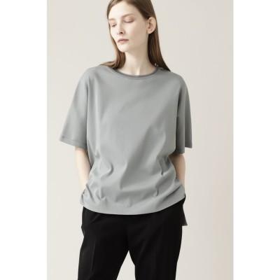 ◆ニットリブTシャツ ライトグリーン