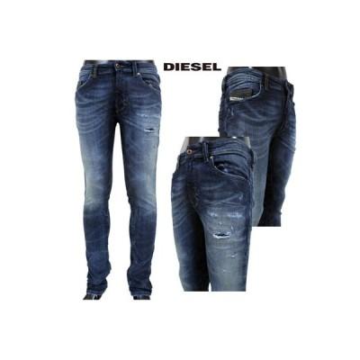 ディーゼル DIESEL メンズ パンツ ボトムス デニム ロゴ クラッシュ加工デニムパンツ インディゴ S5BL R060S 01 (R46440) GB91S