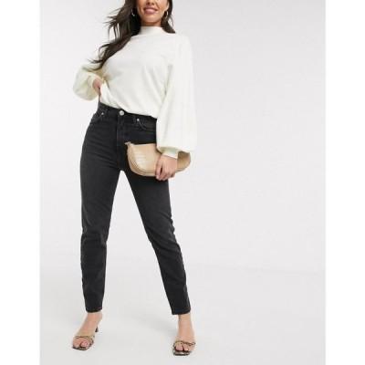リバーアイランド River Island レディース ジーンズ・デニム ボトムス・パンツ Original slim fit jeans in mid wash black ウォッシュブラック