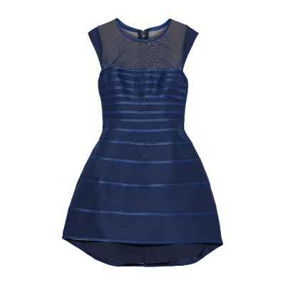 ホルストン・ヘリテージ HALSTON ミニワンピース&ドレス ブルー 8 コットン 87% / シルク 13% / ポリエステル / ポリウレタン
