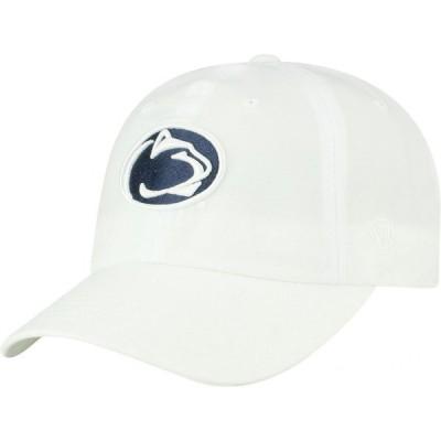 トップオブザワールド Top of the World メンズ キャップ 帽子 Penn State Nittany Lions Staple Adjustable White Hat