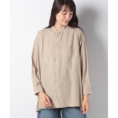 (koe/コエ)レーヨンピンタックシャツ/レディース グレーベージュ