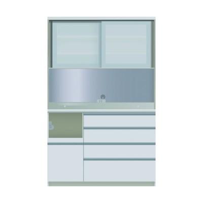 食器棚 引き戸 ガラス扉 キッチン収納 キッチンボード レンジ台 日本製 パモウナ ダイニングボード JZL-S 1200 R W (配送員設置)