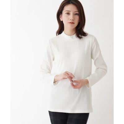 tシャツ Tシャツ 【M-LL】リブハイネックプルオーバー