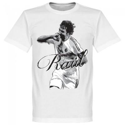 レアル・マドリード ラウル・ゴンサレス Tシャツ SOCCER レジェンド サッカー/フットボール ホワイト