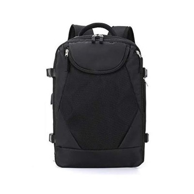 CHEJHUA -Fashion Backpack Landscape Printing Canvas Softback Outdoor Travel Bag Mountaineering Foldable Waterproof Shoulder Bags Black, Size