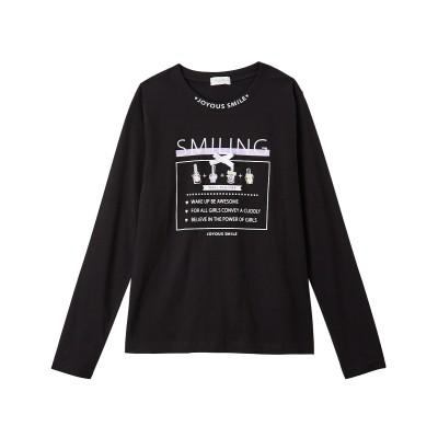 綿100%デザインプリントTシャツ(女の子 子供服・ジュニア服) (Tシャツ・カットソー)Kids' T-shirts