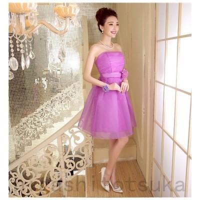 ワンピース 白 キャバ ウェディングドレス ミニ 花嫁ドレス パーティードレス イブニングドレス ミニドレス  披露宴 演奏会