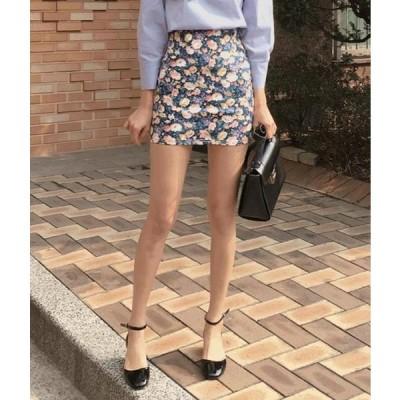 MIXXMIX レディース スカート Elastic Waistband Floral Skirt