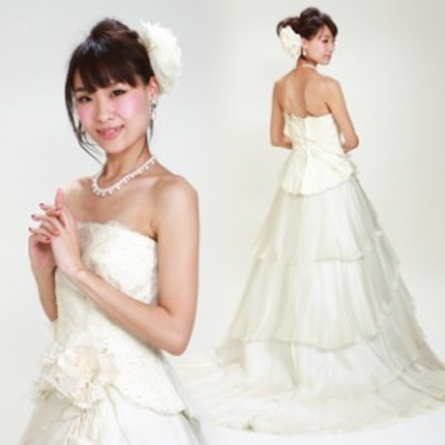 【ウェディングドレス レンタル 7号-9号】【Aライン】ウエディングドレス ウェディング ドレス 披露宴 6304 【往復送料無料】