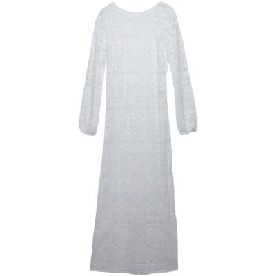 クリスティーナティ KRISTINA TI ロングワンピース&ドレス ホワイト 44 コットン 80% / ナイロン 20% ロングワンピース&ドレス