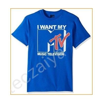 MTV Men's Want Logo T-Shirt, Royal, Medium並行輸入品