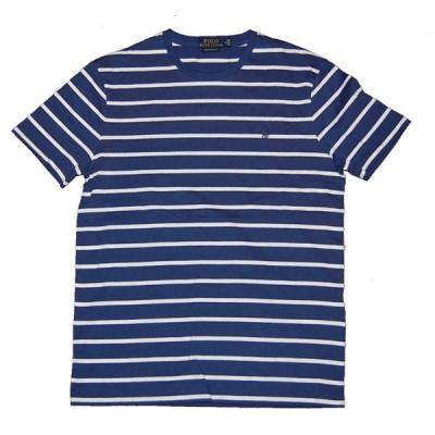 送料無料!Polo RalphLauren ポロ ラルフローレン ボーダーTシャツ BLUE×WHITE(TH)カスタムフィット