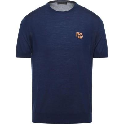 プラダ PRADA メンズ ニット・セーター トップス Sweater Dark blue