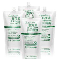 【Superclean 舒克清】環保滅菌液 補充包 600ml 4入組