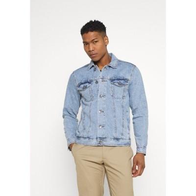 リディファイン レベル ジャケット&ブルゾン メンズ アウター MARC JACKET - Denim jacket - light blue