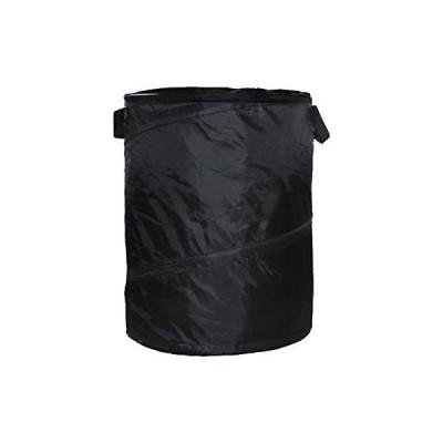 DEXING ポップアップ式車用ゴミ箱 ハンプゴミ袋 折りたたみ式 車用ゴミ箱 ゴミ収納コレクション キャンプ用 容量16.64ガロン ブラック並行輸