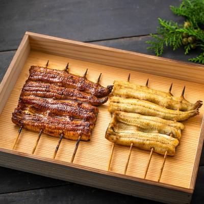 エーゼロ 森のうなぎ 手焼き鰻蒲焼&白焼きセット