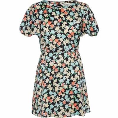 イヴ サンローラン Saint Laurent レディース ワンピース ミニ丈 ワンピース・ドレス floral silk minidress Noir Multicolor