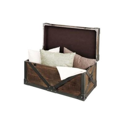 収納 ボックス フタ付き おしゃれ 北欧 安い 木製 アンティーク トランク ラック 整理 奥行50 コンテナ