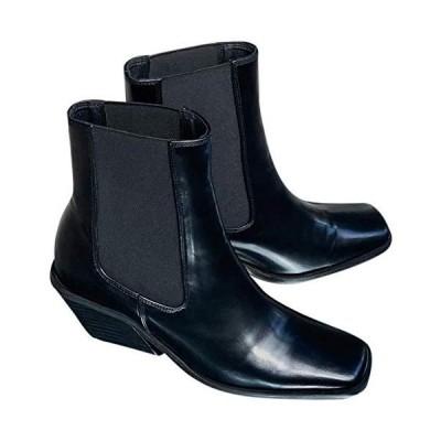 [チュクラ] ブーツ Diagonal cut heel boots chs93 レディース 37 ブラック