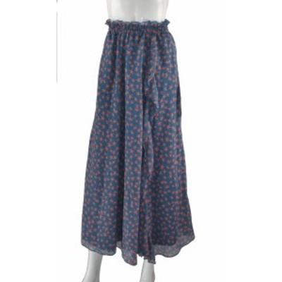 楊柳シフォン星柄フレアースカート