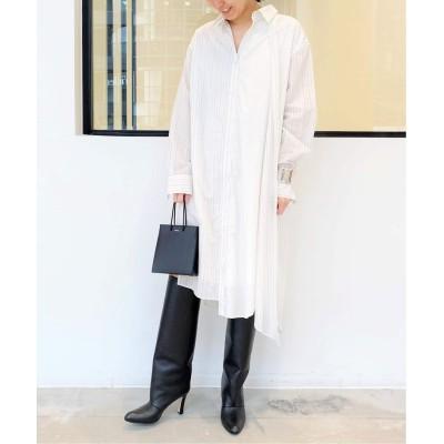 レディース アパルトモン 【Clu】STRIPE SHIRT DRESS ホワイト フリー