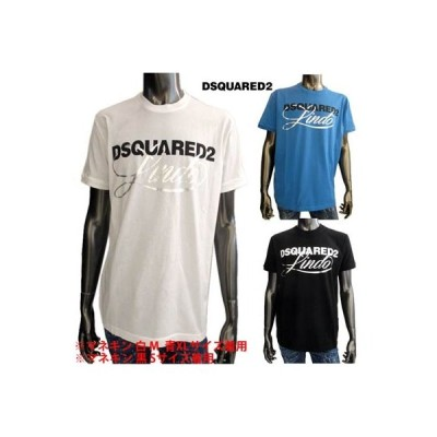 ディースクエアード DSQUARED2 メンズ トップス Tシャツ 半袖 ロゴ 3color DSQUARED2ロゴ・シルバーロゴプリント付きTシャツ 白/青/黒 (R35200)