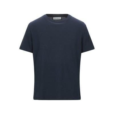 ROQA T シャツ ダークブルー S コットン 100% T シャツ