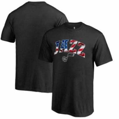 Fanatics Branded ファナティクス ブランド スポーツ用品  Utah Jazz Youth Black Banner Wave T-Shirt