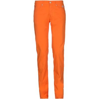 ロイ ロジャース ROŸ ROGER'S パンツ オレンジ 29 コットン 97% / ポリウレタン 3% / 革 パンツ