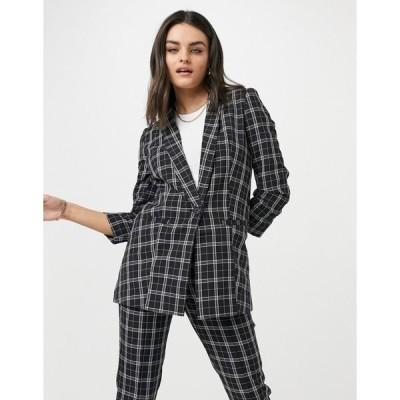 エイソス レディース ジャケット&ブルゾン アウター ASOS DESIGN mix & match tailored suit blazer in mono plaid Check