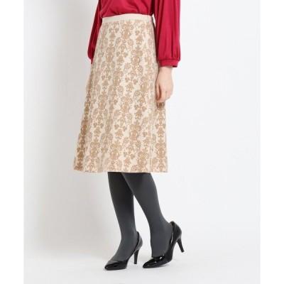 スカート 【洗える】フロッキーAラインスカート