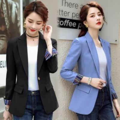 テーラードジャケット レディース 春 秋 ブラック ジャケット 通勤 OL オフィス 緑 グリーン スーツジャケット 大きいサイズ ブルー ジャ