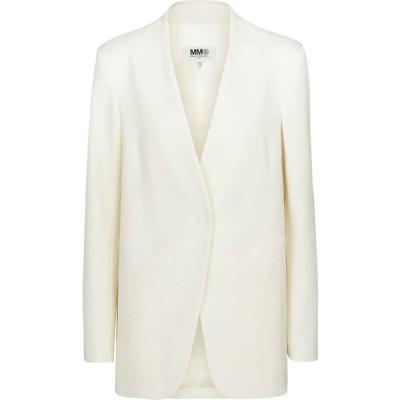 メゾン マルジェラ MM6 Maison Margiela レディース スーツ・ジャケット アウター Single-breasted blazer Off White