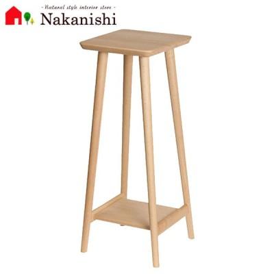 【花台 角・ハイ】木製・フラワースタンド・サイドテーブル・コンパクト・スリム
