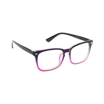 Cyxus(シクサズ)ブルーライトカットメガネ(透明レンズ)pcメガネ UVカット ウェリントンタイプ 紫外線カット パソコン用メガネ 輻射防止 視力