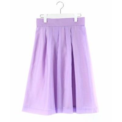 【中古】ドゥアルシーヴ DOUX ARCHIVES スカート フレア ロング 紫 パープル 38 /DK83 レディース
