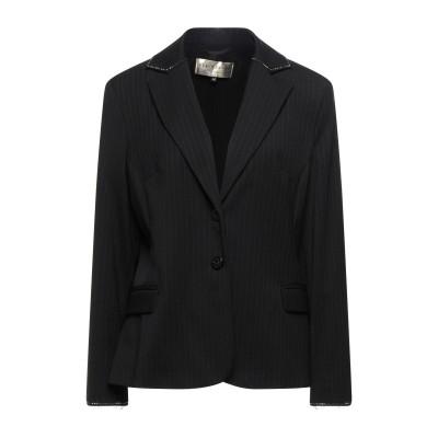 ELISA FANTI テーラードジャケット ブラック 48 ポリエステル 53% / バージンウール 43% / ポリウレタン 4% テーラードジ