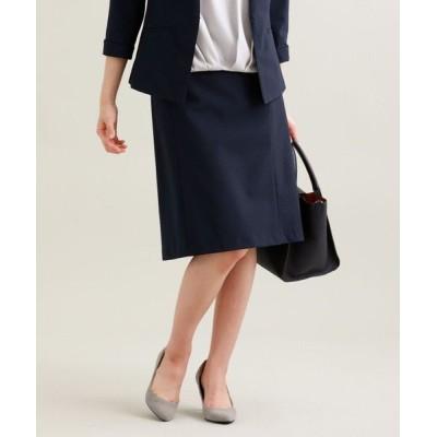 TRANS WORK/トランスワーク 【セットアップ対応】【美Skirt】【UV対策】【ウォッシャブル】コードレーンストライプスカート ネイビー3 38