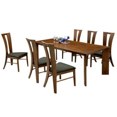 ダイニングテーブルセット 6人用 (北欧 ミッドセンチュリー) カフェ
