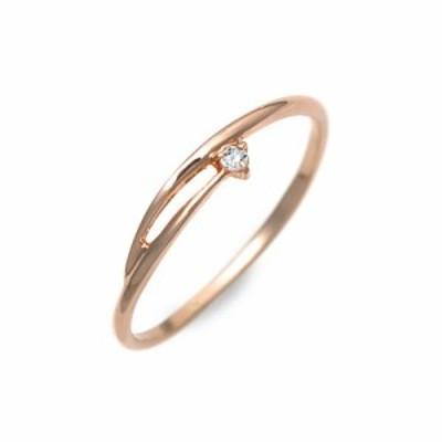 リング 指輪 レディース Goutte Dor ピンクゴールド ダイヤモンド 4月の誕生石 誕生日プレゼント ギフト