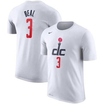 ナイキ Tシャツ トップス メンズ Bradley Beal Washington Wizards Nike 2019/20 City Edition Name & Number Performance TShirt White
