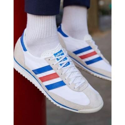 アディダス adidas Originals メンズ スニーカー シューズ・靴 Adidas Originals Sl 72 Trainers In Vintage White ホワイト